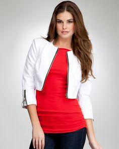 bebe Cropped Zipper Leatherette Jacket