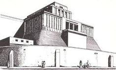 Reconstrucción hipotética del Templo de Eridú. Arte Sumerio