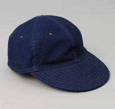 CA1-244 - 6-Panel Ball Cap, Selvedge Lightweight Indigo Sashiko