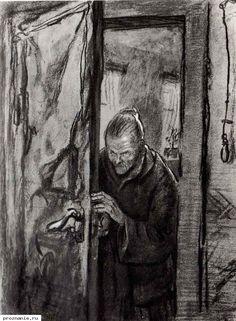 Shmarinov: Crime and Punishment (via Book Graphics) Sketch Quotes, Theater Architecture, Russian Literature, Art Folder, Creative Activities, Book Illustration, Illustrations, Book Art, Digital Art