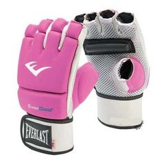 Everlast Kick Boxing Gloves MMA Sports Muaythai Kickboxing glove Boxing PU Pink…