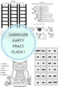 Darmowe karty pracy dla klasy 1 z ćwiczeniami przydatnymi przy wprowadzaniu i utrwalaniu liter: ś/si ,ć/ci ,ń/ni ,ź/zi, rz/ż, sz, cz, f, h.ch