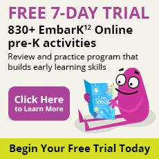 Free 7 day trial of Embark Online Preschool Program