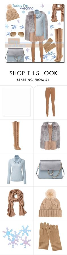 """""""CoZy in CasHmere & Fur!"""" by prettynposh2 ❤ liked on Polyvore featuring AG Adriano Goldschmied, Balmain, Christopher Kane, Chloé, Banana Republic, Loro Piana, Darice, Uniqlo, Ray-Ban and cozy"""