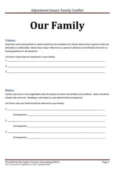 Printables Marriage Therapy Worksheets counseling therapy and the family on pinterest i talked a lot about establishing values shared rules in another post thought worksheet might make actually these very