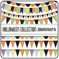 New Halloween Collection - One Happy Mama Halloween Banner, Halloween Photos, Halloween Crafts, Cute Banners, Design Elements, Kids Rugs, Crystals, Happy, Pattern