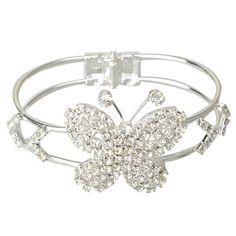 Fashionable Butterfly Style Alloy Bangle Bracelet
