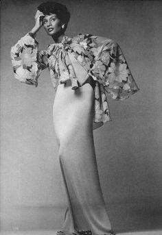 Vogue February 1974:  Model Beverly Johnson by Francesco Scavullo
