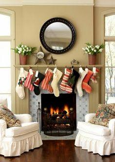 Con encanto . . .: Inspiración Navideña - Chimeneas decoradas