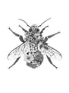 Terrific Photographs Printmaking bee Ideas Printmaking is definitely the whole process of creating artworks by printing, commonly on paper. Printmaking commonly i Mini Tattoos, Body Art Tattoos, White Tattoos, Simbols Tattoo, Tattoo Spine, Tattoo Bird, Snake Tattoo, Tattoo Drawings, Bee Art