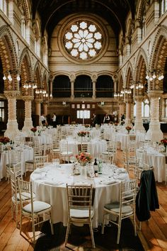 Luxe Wedding at St Stephen's Trust, Deconsecrated Church in Hampstead, London Luxury Wedding Decor, Romantic Wedding Decor, Romantic Wedding Inspiration, Luxe Wedding, Wedding Venues, Wedding Decorations, Wedding Ideas, Table Decorations, Hampstead London