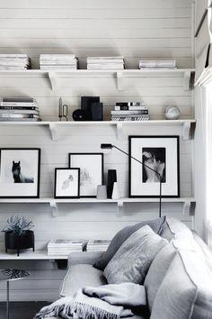 Use gray, black and white tones in interior design to create a calm expression