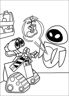 wall e coloring pages online | 56 Best Disney Wall-E Coloring Pages Disney images ...