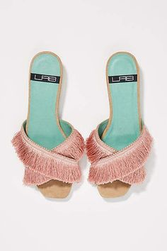 LAB Fringed Slide Sandals at Anthropologie [affiliate] #shopping #style #sandals #anthrofave #anthropologie