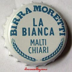 TAPPO A CORONA BIRRA MORETTI LA BIANCA crown  bottle caps kronkorken chapas