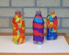 plastic fles beplakken