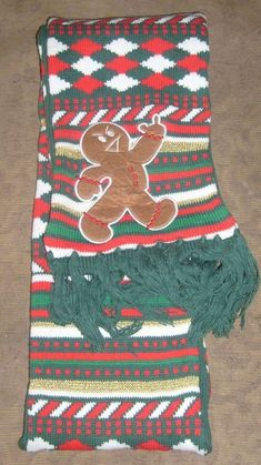 6263e9511666 UGLY CHRISTMAS SWEATER SCARF GINGERBREAD MAN MIDDLE FINGER ADULT HUMOR  SCARF NEW #SPENCERS #CHRISTMASLONGSCARF