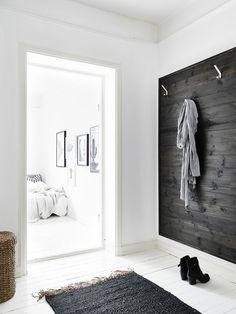 Entrance Hall in black and white #design #interiordesign