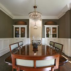 pictures of dining rooms with wainscoting | Dining Room Wainscoting Moulding Design, Pictures, Remodel, Decor and ...