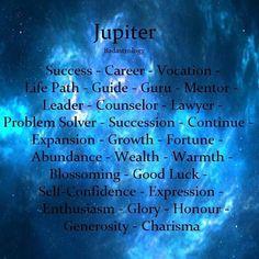 Astrology: Jupiter Keywords | #Astrology #Jupiter