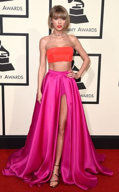 Album of the Year winner Taylor Swift from Grammys 2016 in Atelier Versace