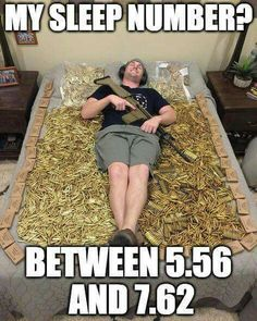 Haha that might be the most expensive Sleep Number bed I've ever seen Funny Memes, Hilarious, Jokes, Airsoft, Adults Only Humor, Gun Humor, Gun Quotes, Military Memes, Thing 1