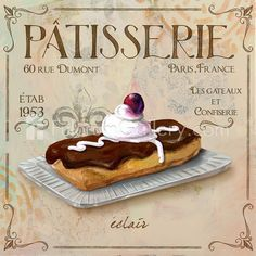 Patisserie III Fine Art Print by Fiona Stokes-Gilbert at FulcrumGallery.com