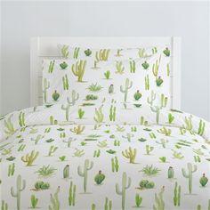 Watercolor Cactus Duvet Cover   Carousel Designs