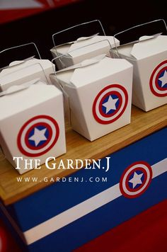 Party for kids / Birthday party / Cake table / Party food / Captain america themed