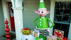 Bring the North Pole to your front yard with these Lawn Elfs! Tune in to Home and Family weekdays at on Hallmark Channel! Diy Christmas Elves, Christmas Light Show, Hanging Christmas Lights, Modern Christmas, Christmas Ornaments, Christmas Ideas, Nutcracker Christmas, Christmas Wishes, Christmas Projects