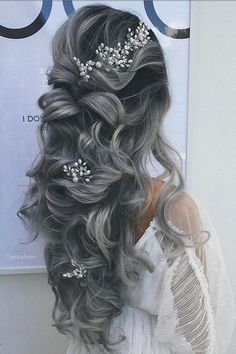 Looking for best wedding hairstyles? Get inspired by wedding hairstyle ideas from Ulyana Aster. Add Ulyana Aster hair accessories for the perfect look. Hair Color 2018, Latest Hair Color, Hair 2018, Unique Wedding Hairstyles, Bridal Hairstyles, Hairstyle Wedding, Hairstyle Ideas, Wedding Hair Inspiration, Wedding Ideas