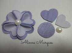 Resultado de imagem para flores de feltro
