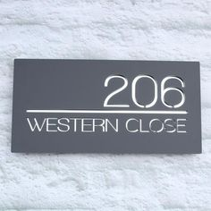 0b4d2e3170e Modern Contemporary Large Square Floating Acrylic House Sign