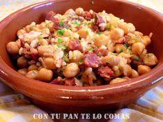 GARBANZOS CON ARROZ Y CHORIZO | Cocinar en casa es facilisimo.com