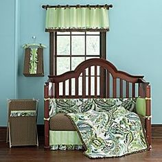 Green Paisley Crib set at JCPenney Boy or Girl