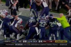 El Pleito Que Se Armó Entre Los Equipos En Los Últimos Segundos Del Super Bowl #Video