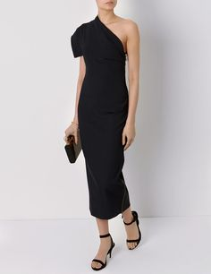 Ink Ribbed Fitted Dialogue Dress