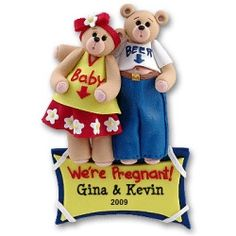 Expecting Couple - Personalized First Christmas Ornament