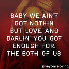 Beyonce 1+1 song lyric