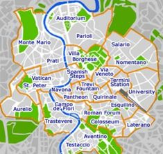 rome_neighborhood_map #Rome