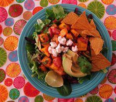 Fragrant Vanilla Cake: Raw Tropical Fruit Taco Salad