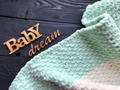 Mint plush baby blanket baby shower gift baby girl blanket