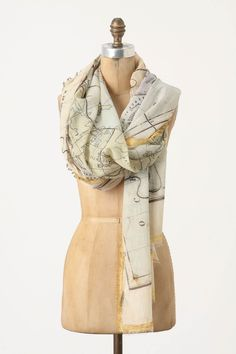 Globe Trotting Scarf - if this ever goes on sale cheap enough it willl be mine!