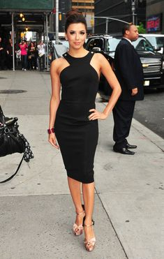 Eva Longoria in the perfect little black dress .