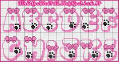 Beading Patterns, Embroidery Patterns, Stitch Patterns, Cross Stitch Letters, Cross Stitch Baby, Gata Marie, Alphabet And Numbers, Perler Beads, Cross Stitching