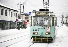 Winter Tram - Hakodate city, Hokkaido in Japan by Woosra Kim