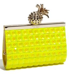 Kate Spade Lemon Drop Small Lella Frame Clutch (I need this for Steffie) Kate Spade Clutch, Kate Spade Handbags, Novelty Handbags, Ladies Handbags, Pineapple Yellow, Yellow Clutch, Bags Online Shopping, Unique Purses, Crossbody Clutch