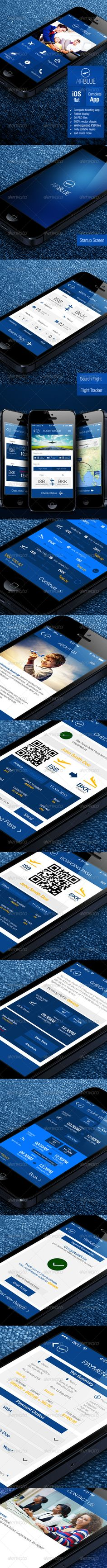 AirBlue - Flight Ticket Booking App - User Interfaces Web Elements