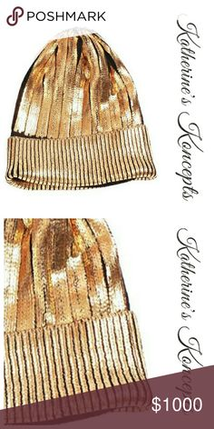 Just in!!! Gold Metallic Coated Sweater Beanie Gold metallic coated folded sweater beanies!! Also available in black. Similar to H&M metalic beanie. One size fits most. Be ready for a fashion forward winter with the newest trending metallic items. These will be $15 each! Save more by bundling.  ⛤The item you see is the exact item you will receive. Shop with confidence! ♥ Brand new boutique items ♥ 100% Smoke and pet free environment  ♥ Same or next business day shipping ♥ Bundle discounts…