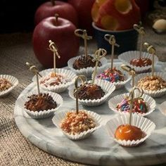 Kids and adults alike will go crazy over these adorable and delicious mini caramel apple bites, perfect for a Halloween party or a festive fall day.